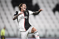26th July 2020, Turin, Italy;   Federico Bernardeschi celebrates as he scored during the Seria A league game, Juventus versus Sampdoria