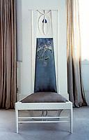 Mackintosh Collection: Hunterian Art Gallery, U. of Glasgow. High Back Chair 1902.