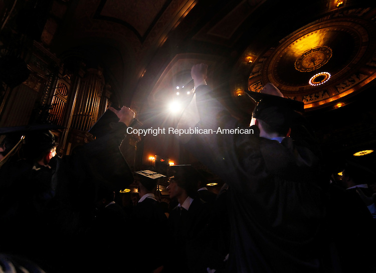 Waterbury, CT-16, June 2010-061610CM02 Kaynor Tech graduates celebrate following commencement procedures at the Palace Theater in downtown Waterbury Wednesday night. --Christopher Massa Republican-American