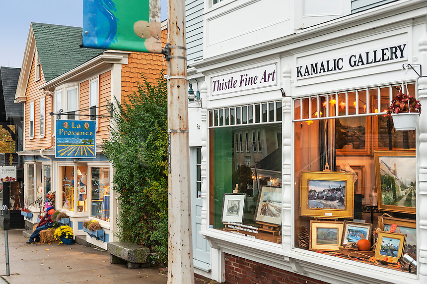 Quaint shops in Rockport, Massachusetts, USA