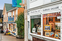 Quaint shops in Rockport, Massachusetts, USA