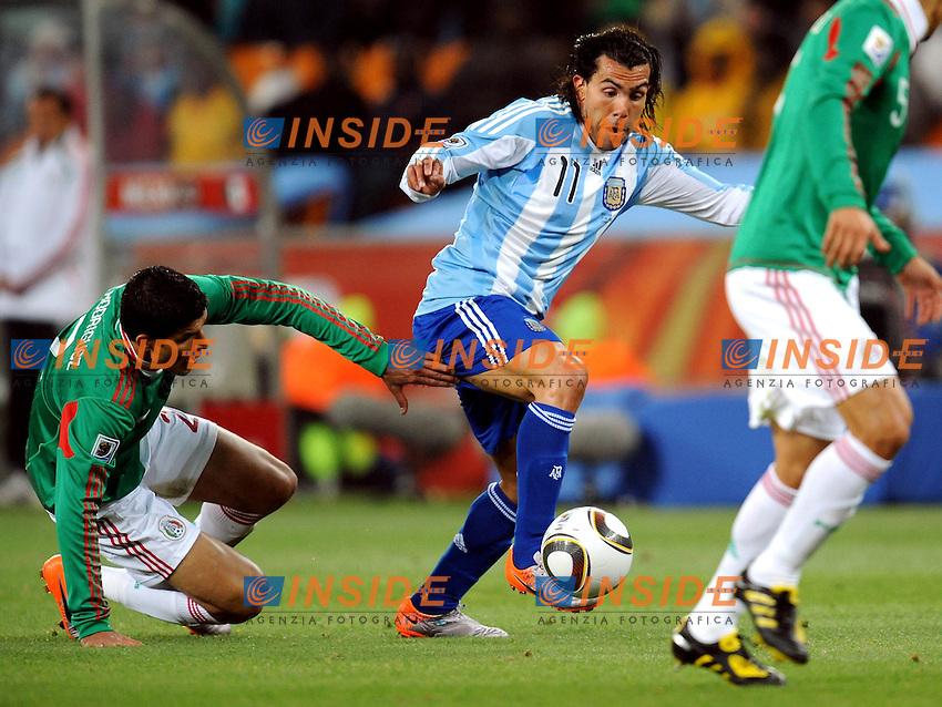 Carlos Tevez (Argentina)<br /> Argentina Messico - Argentina vs Mexico<br /> Campionati del Mondo di Calcio Sudafrica 2010 - World Cup South Africa 2010<br /> Soccer City Stadium, Johannesburg, 27 / 06 / 2010<br /> &copy; Giorgio Perottino / Insidefoto