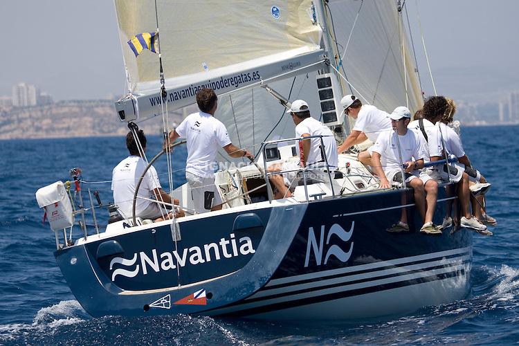 ESP7737 .NAVANTIA .JESUS PINTOS .MALI PRINC, S.L. .C.N.MALPICA/R.C.N.CORUÑA .X-37 .XIII TROFEO TABARCA CIUDAD DE ALICANTE - Real Club de Regatas de Alicante - 3-6 July 2008 - Alicante, España / Spain
