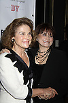 """Tovah Feldshuh (AMC """"Lila Stevenson"""", ATWT """"Dr. Bethany Rose"""" and Ryan's Hope """"Martha McKee"""") poses with Iris Rainer Dart as they attend Opening Night of Roundabout Theatre Company's Broadway production of The People in the Picture on April 28, 2011 at Studio 54 Theatre, New York City, New York. (Photo by Sue Coflin/Max Photos)"""