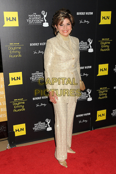 Gloria Allred.39th Annual Daytime Emmy Awards - Arrivals held at the Beverly Hilton Hotel, Beverly Hills, California, USA,  .23rd June 2012..emmys full length gold jacket trousers suit .CAP/ADM/BP.©Byron Purvis/AdMedia/Capital Pictures.