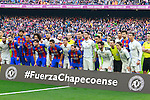 03.12.2016 Barcelona. La Liga. Picture show memorialñ for Chapecoense during game between Fc Barcelona against Real Madrid at Camp Nou