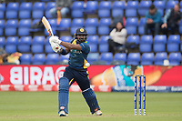 Kusal Perera (Sri Lanka) flays a free hit wide of extra cover to the boundary during Afghanistan vs Sri Lanka, ICC World Cup Cricket at Sophia Gardens Cardiff on 4th June 2019