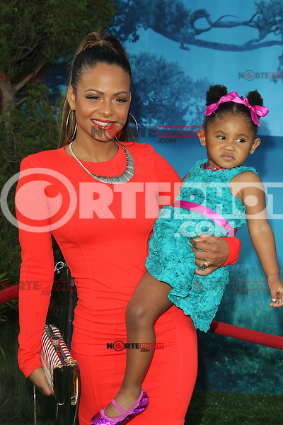 Christina Milian at Film Independent's 2012 Los Angeles Film Festival Premiere of Disney Pixar's 'Brave' at Dolby Theatre on June 18, 2012 in Hollywood, California. © mpi28/MediaPunch Inc. NORTEPHOTO.COM<br />
