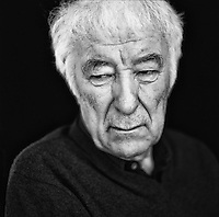 Seamus Heaney photographed at his home in Dublin. Seamus Heaney (born 13 April 1939) is an Irish poet, playwright, translator, lecturer and recipient of the 1995 Nobel Prize in Literature. Born at Mossbawn farmhouse between Castledawson and Toomebridge, he now resides in Dublin..As well as the Nobel Prize in Literature, Heaney has received the Geoffrey Faber Memorial Prize (1968), the E. M. Forster Award (1975), the PEN Translation Prize (1985), the Golden Wreath of Poetry (2001), T. S. Eliot Prize (2006) and two Whitbread Prizes (1996 and 1999). He has been a member of Aosdána since its foundation and has been Saoi since 1997. He was both the Harvard and the Oxford Professor of Poetry and was made a Commandeur de l'Ordre des Arts et Lettres in 1996. Heaney's literary papers are held by the National Library of Ireland. On 6 June 2012, he was awarded the Lifetime Recognition Award from the Griffin Trust For Excellence In Poetry.