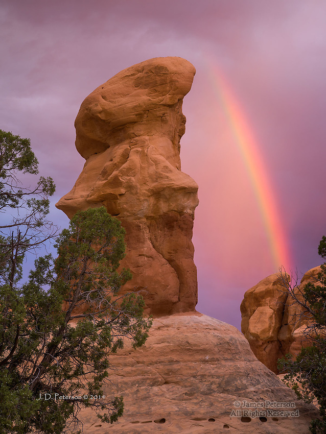 Dawn Rainbow over Devil's Garden, Utah