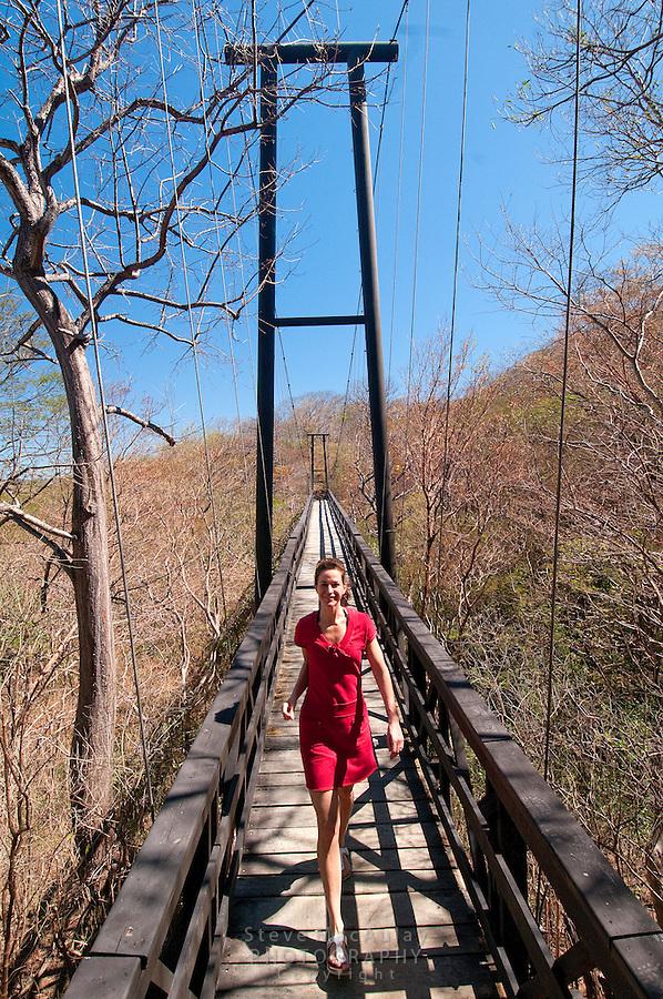 Suspension Bridge crossing ravine at Morgan's Rock Hacienda and Eco Lodge, Nicaragua