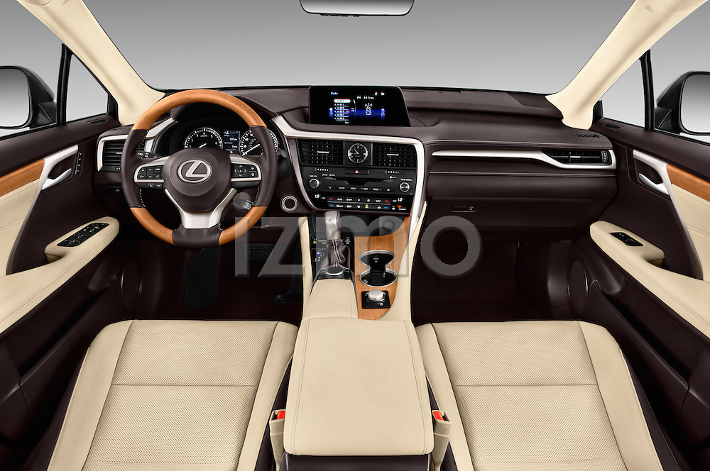 Stock photo of straight dashboard view of 2016 Lexus RX 350 5 Door SUV Dashboard