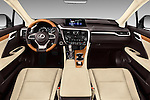 Stock photo of straight dashboard view of 2018 Lexus RX 350 5 Door SUV Dashboard