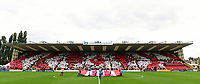 Lincoln City fans with s display before kick off<br /> <br /> Photographer Chris Vaughan/CameraSport<br /> <br /> The EFL Sky Bet League Two - Lincoln City v Morecambe - Saturday August 12th 2017 - Sincil Bank - Lincoln<br /> <br /> World Copyright &copy; 2017 CameraSport. All rights reserved. 43 Linden Ave. Countesthorpe. Leicester. England. LE8 5PG - Tel: +44 (0) 116 277 4147 - admin@camerasport.com - www.camerasport.com
