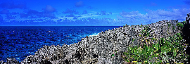 Niue Island Panorama - Togo chasm on Niue  <br />