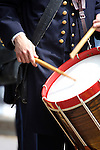 A civil war era drummer boy at an reactment
