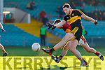 Daithi Casey Dr Crokes in action against Brian Curtin St Joseph's Miltown Malbay during the AIB Munster GAA Football Senior Club Championship Final match between Dr. Crokes and St. Josephs Miltown Malbay at the Gaelic Grounds in Limerick on Sunday.
