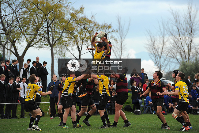 Garin College v Bishop Versy Grammer from England. Garin College, Richmond, Nelson, New Zealand. Tuesday 6 August 2013. Photo: Chris Symes/www.shuttersport.co.nz