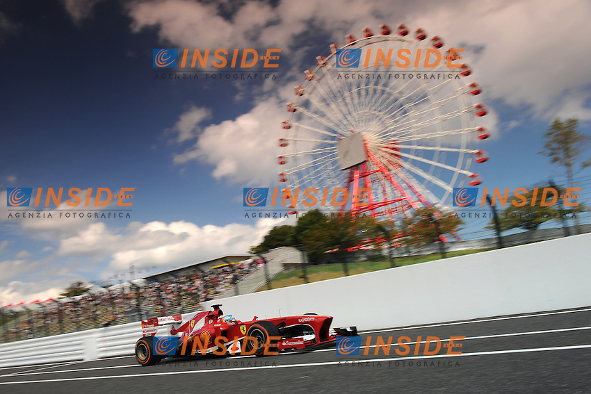 SPANISH FERNANDO ALONSO ON FERRARI F138 <br /> Suzuka 12/10/2013 <br /> Formula 1 GP Giappone 2013  <br /> Foto Panoramic / Insidefoto