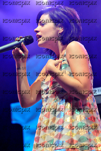 Lily Allen - performing live on Day Two on the Main Stage at the Radio One Big Weekend festival held at Lydiard Park, Swindon, UK - 10 May 2009. Photo by: George Chi/IconicPix