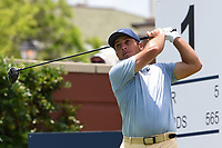 Francesco Molinari (ITA) watches his tee shot on 1 during round 1 of the 2019 Charles Schwab Challenge, Colonial Country Club, Ft. Worth, Texas,  USA. 5/23/2019.<br /> Picture: Golffile | Ken Murray<br /> <br /> All photo usage must carry mandatory copyright credit (© Golffile | Ken Murray)