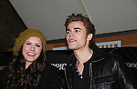 "Vampire Diaries stars Paul Wesley (Wasilewski) ""Max"" GL and Nina Dobrev on January 30, 2010 during the Hot Topic Tour at the Westfield Garden State Plaza, Paramus, New Jersey where they signed autographs and held a Q & A session for a huge number of fans. (Photo by Sue Coflin/Max Photos)"
