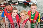 0723-0725.---------.Buoys and gals.--------------.Dingle rowing club members L-R Manuel Witt,Sorcha Lyne,Caoimhe Ni? Choilea?in and Ciaran Houlihan get ready to take part in the Brandon regatta last Sunday.