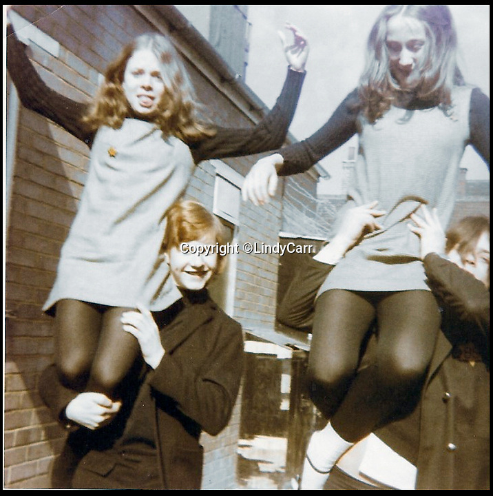 BNPS.co.uk (01202 558833)<br /> Pic:  LindyCarr/BNPS<br /> <br /> Lindy Carr, pictured on the right, with actress Julie Dawn Cole (left), who played selfish Veruca Salt - pictured when they were aged about 12.<br /> <br /> One of the five golden tickets used in the film Willy Wonka & The Chocolate Factory has sold for just over £16,000.<br /> <br /> The shiny slip of foil paper was the one English brat Veruca Salt 'found' after her wealthy father got his factory work-force to open thousands of Wonka chocolate bars.<br /> <br /> After filming had finished actress Julie Dawn Cole, who played selfish Veruca in the 1971 movie, kept hold of the 5ins by 7ins golden ticket.<br />  <br /> Julie later gifted it and a fake Wonka chocolate bar to her friend Lindy Sellers.