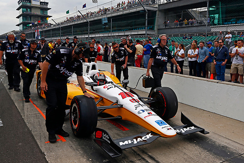 Verizon IndyCar Series<br /> Indianapolis 500 Qualifying<br /> Indianapolis Motor Speedway, Indianapolis, IN USA<br /> Saturday 20 May 2017<br /> Oriol Servia, Rahal Letterman Lanigan Racing Honda<br /> World Copyright: Phillip Abbott<br /> LAT Images<br /> ref: Digital Image abbott_IndyQ-0517_19599