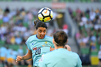 22 November 2017, Melbourne - Sam Kerr warms up prior to an international friendly match between the Australian Matildas and China PR at AAMI Stadium in Melbourne, Australia.. Australia won 5-1. Photo Sydney Low