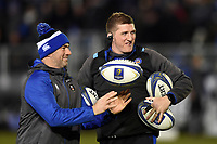 Allan Ryan and Stuart Hooper of Bath Rugby look on during the pre-match warm-up. European Rugby Champions Cup match, between Bath Rugby and RC Toulon on December 16, 2017 at the Recreation Ground in Bath, England. Photo by: Patrick Khachfe / Onside Images