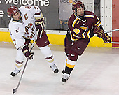 Peter Harrold, Mark Bomersback - The Boston College Eagles and Ferris State Bulldogs tied at 3 in the opening game of the Denver Cup on Friday, December 30, 2005, at Magness Arena in Denver, Colorado.  Boston College won the shootout to determine which team would advance to the Final.