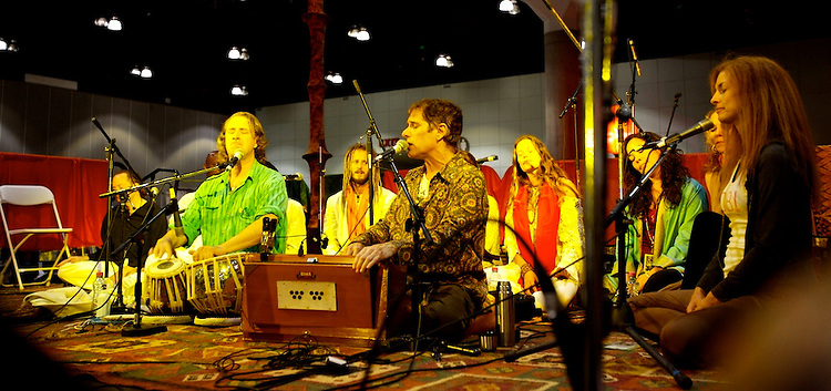Global Mala Project (GMP) event.  Jai Uttal and friends with Wha!