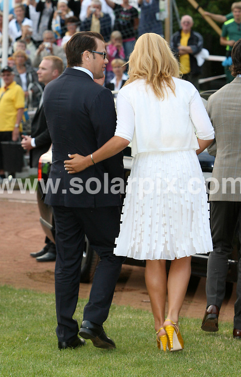 **ALL ROUND PICTURES FROM SOLARPIX.COM**.**SYNDICATION RIGHTS FOR UK AND SPAIN ONLY**.Crown Princess Victoria of Sweden celebrates her 32nd birthday with fiance Daniel Westling and parents Queen Silvia and King Carl Gustaf of Sweden at Solliden Palace on the island of Oeland, southern Sweden. 14 July 2009..This pic: Daniel Westling and Madeleine of Sweden..JOB REF: 9494 CPR (Kongsted) DATE: 14_07_2009.**MUST CREDIT SOLARPIX.COM OR DOUBLE FEE WILL BE CHARGED**.**ONLINE USAGE FEE GBP 50.00 PER PICTURE - NOTIFICATION OF USAGE TO PHOTO @ SOLARPIX.COM**.**CALL SOLARPIX : +34 952 811 768 or LOW RATE FROM UK 0844 617 7637**