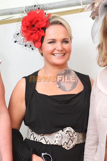 Best Dressed Lady Finalist Tahnee Morgan at the Bellewstown Races..Picture Jenny Matthews/Newsfile.ie