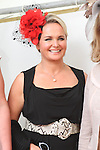 Best Dressed Lady Finalist Tahnee Morgan at the Bellewstown Races..Picture Jenny Matthews/Newsfile.ie