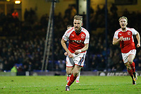 GOAL - Paddy Madden of Fleetwood Town scores on his debut during the Sky Bet League 1 match between Southend United and Fleetwood Town at Roots Hall, Southend, England on 13 January 2018. Photo by Carlton Myrie.