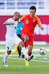 Gao Lin of China (R) competes for the ball with Edgar Bernhardt of Kyrgyz Republic during the AFC Asian Cup UAE 2019 Group C match between China (CHN) and Kyrgyz Republic (KGZ) at Khalifa Bin Zayed Stadium on 07 January 2019 in Al Ain, United Arab Emirates. Photo by Marcio Rodrigo Machado / Power Sport Images