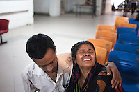 Mother of Shakil  Mollah 20 crying after knowing her son's death news. Shakil Mollah, 20, a political victim who died after suffered burns in a petrol bomb attack on a truck. Ten people, including eight workers, suffered burn injuries in a petrol bomb attack on a sand-laden truck at Moghirdhal on the Magura-Jessore road in Sadar upazila on Saturday night.  As the truck reached Moghirdhal around 8:00pm, miscreants hurled a petrol bomb at the vehicle. Soon after the petrol bomb attack, the truck went up in flames, leaving eight workers and the truck driver and his helper burnt. Four victims of them, who are in critical condition, have suffered 50 to 88 percent burns, added the burns unit doctor.