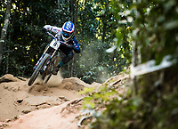 Picture by Alex Broadway/SWpix.com - 10/09/17 - Cycling - UCI 2017 Mountain Bike World Championships - Downhill - Cairns, Australia - Laurie Greenland of Great Britain competes in the Men's Elite Downhill Final.