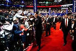 Republican presidential candidate Mitt Romney arrives on the final night of Republican National Convention in Tampa, Florida, August 30, 2012.