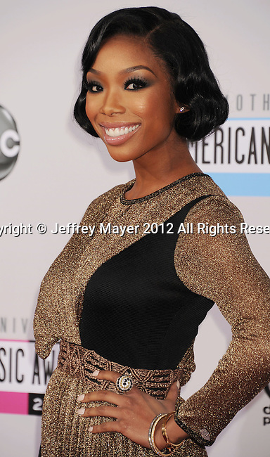 LOS ANGELES, CA - NOVEMBER 18: Brandy attends the 40th Anniversary American Music Awards held at Nokia Theatre L.A. Live on November 18, 2012 in Los Angeles, California.