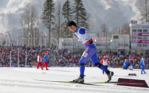 10.03.2014. Sochi, Russia.  Haitao Du of China competes in Men's 20km Standing at Cross-Country event in Laura Cross-country Ski & Biathlon Center at the Sochi 2014 Paralympic Winter Games, Krasnaya Polyana, Russia, 10 March 2014.