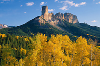Aspens, Chimney Rock &amp; Courthouse Mountain<br />