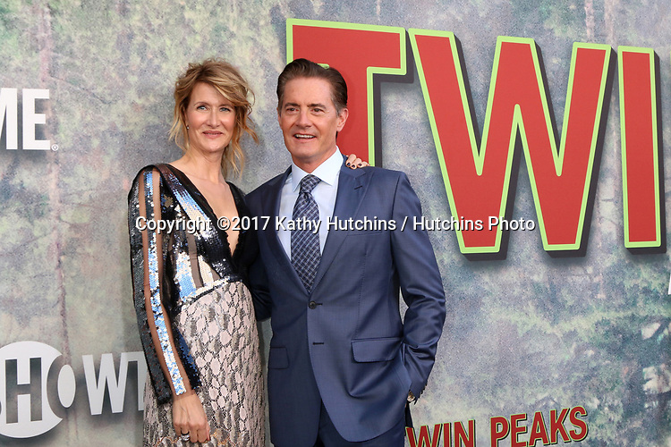 """LOS ANGELES - MAY 19:  Laura Dern, Kyle MacLachlan at the """"Twin Peaks"""" Premiere Screening at The Theater at Ace Hotel on May 19, 2017 in Los Angeles, CA"""
