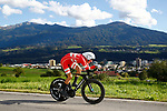 Mikkel Bjerg (DEN) in action during the Men's Under-23 Individual Time Trial of the 2018 UCI Road World Championships running 20km around Innsbruck, Innsbruck-Tirol, Austria 2018. 24th September 2018.<br /> Picture: Innsbruck-Tirol 2018 | Cyclefile<br /> <br /> <br /> All photos usage must carry mandatory copyright credit (&copy; Cyclefile | Innsbruck-Tirol 2018)