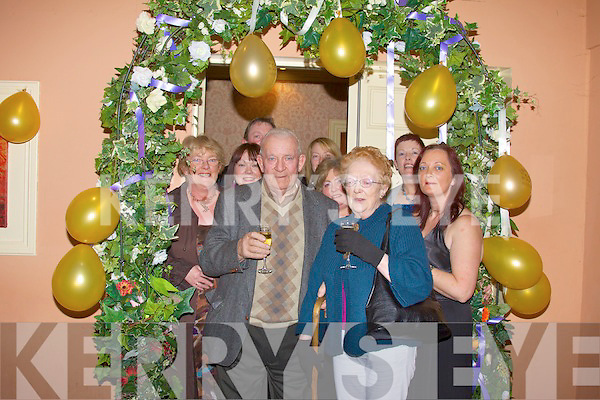 GOLDEN ANNIVERSARY: Michael and Margaret Walshe, Marian Park, Glin who celebrated their 50th wedding anniversary with family and friends in Kirby's Lanterns Hotel, Tarbert on Friday night.   Copyright Kerry's Eye 2008