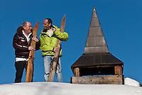 urope/France/Rhone-Alpes/73/Savoie/  Saint-Martin-de-Belleville: René Meilleur, son fils Maxime - Restaurant La Bouitte au hameau de Saint Marcel [Non destiné à un usage publicitaire - Not intended for an advertising use]