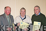 .CLUB: Con Griffin, Pat Delaney and Dan Kelleher members of St Pats East Kerry Hurling Board at the Kerry County Board AGM in in Brandon Hotel, Conference Centre on Monday night......   Copyright Kerry's Eye 2008