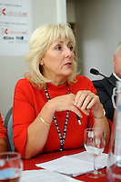 Labour Party Annual Conference<br /> Brighton<br /> 27-30 September<br /> Fringe meeting 'Backing the working class and beyond: How can we get a parliament that looks like us?' organised by Labour List and UNITE trade union.<br /> Jennie Formby, political director, UNITE, answers a question from the audience.